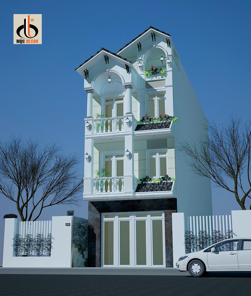 Thiết kế nhà phố | Nhà Phố Tân cổ Điển